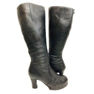 Rudsak Platform Pebbled Leather Heeled Boots Sz 9